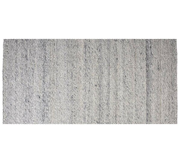 Hand-Woven Rectangle Blue Ash Area Rug by Foundry Select