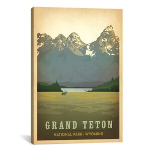 'Art and Soul of America National Parks Collection: Grand Teton National Park (Teton Range)' Vintage Advertisement by East Urban Home