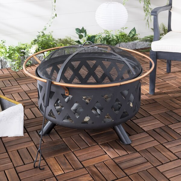 Bryce Iron Wood Burning Fire Pit by Safavieh