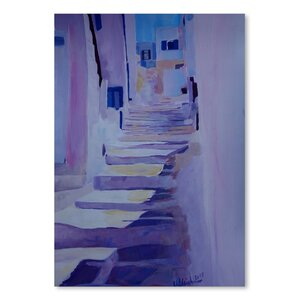 Enchanting Mykonos Greek Islands Stairs Painting by East Urban Home