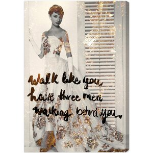 Walk Graphic Art on Wrapped Canvas by House of Hampton