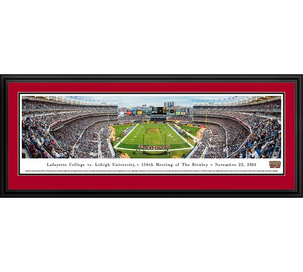 NCAA Lafayette Vs. Lehigh - 150Th, Lafayette by James Blakeway Framed Photographic Print by Blakeway Worldwide Panoramas, Inc