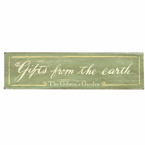Personalized Gifts from the Earth Textual Art on Wood by Artehouse LLC