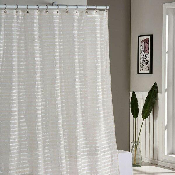 Cadencia Stripe Shower Curtain by House of Hampton