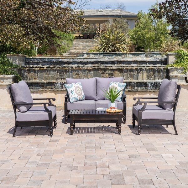 Peregrine 4 Piece Sofa Set with Cushions by Darby Home Co