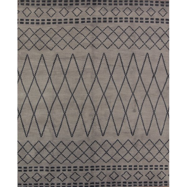 One-of-a-Kind Lam Oriental Hand-Knotted Wool Gray Area Rug by Union Rustic