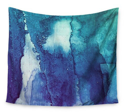 Blues Abstract Series 1 by Malia Shields Wall Tapestry by East Urban Home