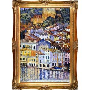 'Malcesine on Lake Garda' by Gustav Klimt Framed Oil Painting Print on Canvas by Tori Home