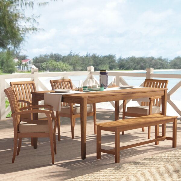 Elaina Solid Wood Dining Table by Beachcrest Home