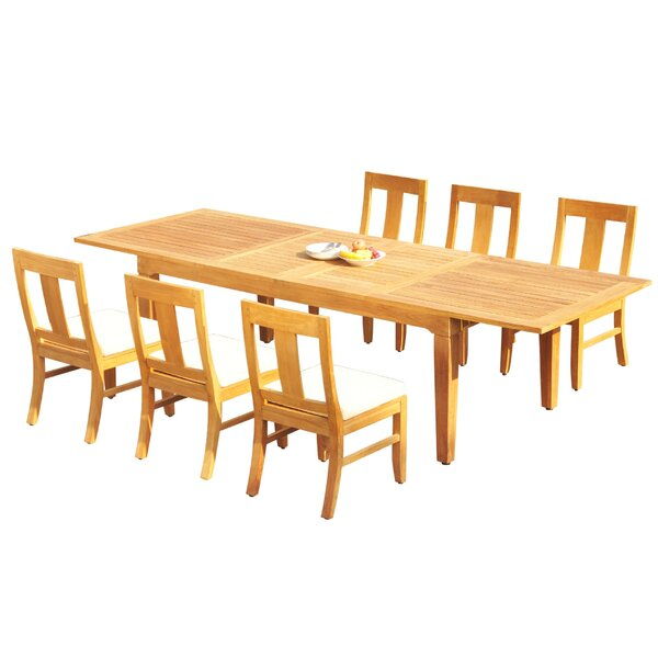 Benny 7 Piece Teak Dining Set by Rosecliff Heights