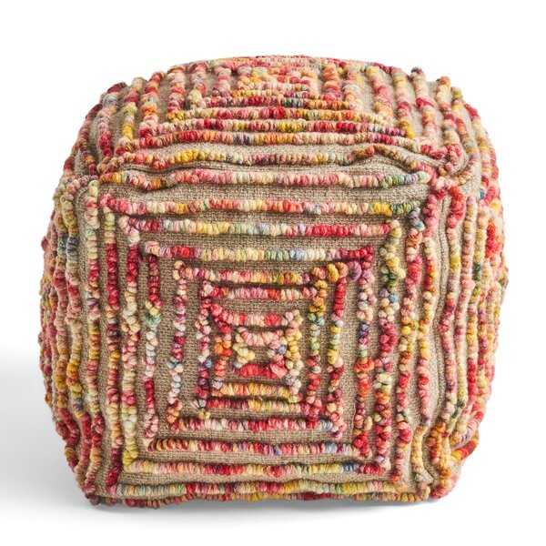 Mabie Tufted Pouf by Bungalow Rose