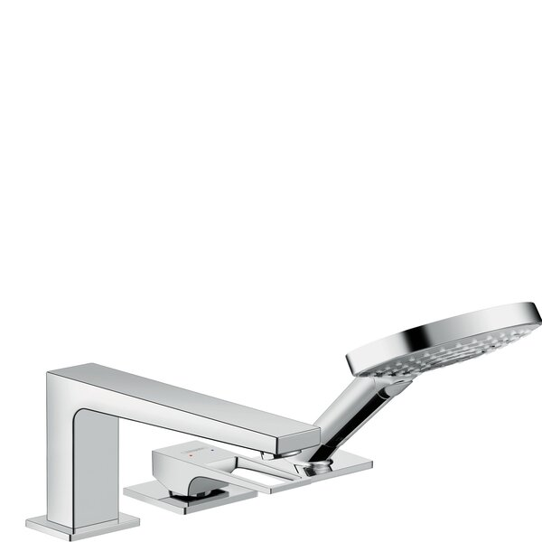 Metropol Single Handle Deck Mounted Roman Tub Faucet Trim with Diverter and Handshower by Hansgrohe Hansgrohe