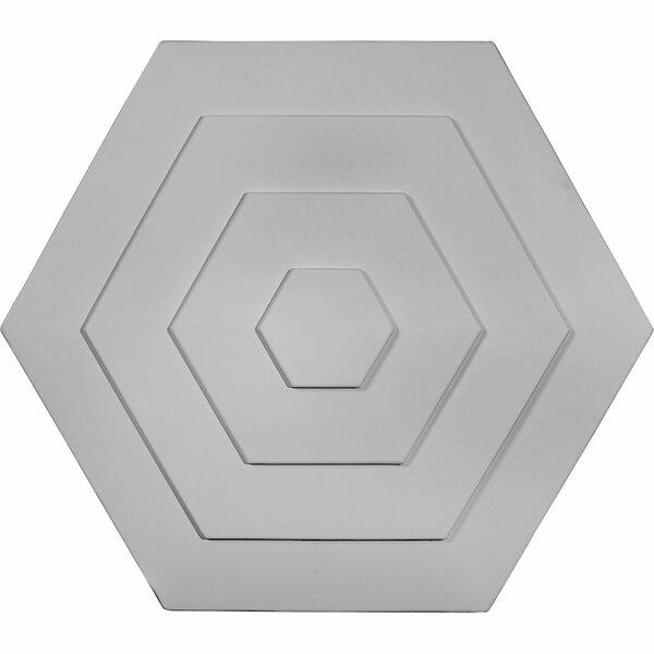 Woodruff 23 1/4H x 23 1/4W x 7/8D Ceiling Medallion by Ekena Millwork