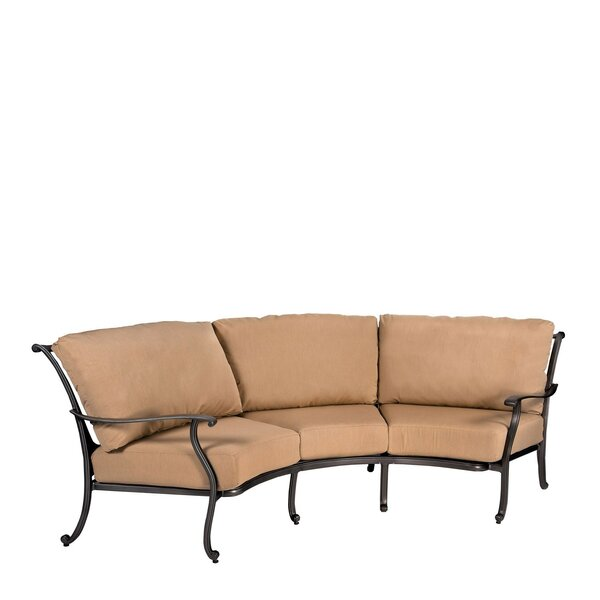 New Orleans Crescent Patio Sofa By Woodard