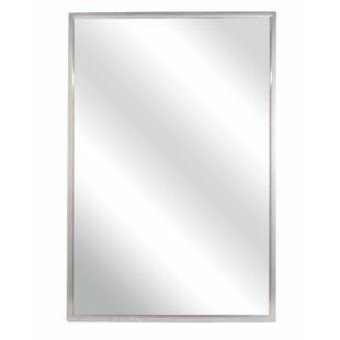 Bradley Corporation Fixed Angle Tilt-Frame Wall Mirror