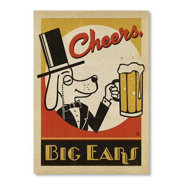 Cheers Big Ears Vintage Advertisement by East Urban Home