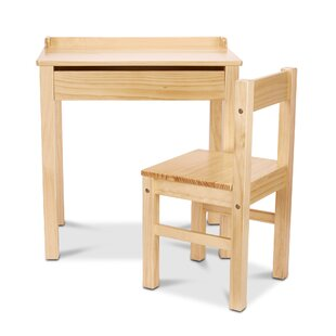 Best Choices Kids Lift-Top 2 Piece Writing Table and Chair Set ByMelissa & Doug