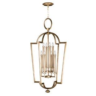 Allegretto Silver 8-Light Foyer Pendant by Fine Art Lamps