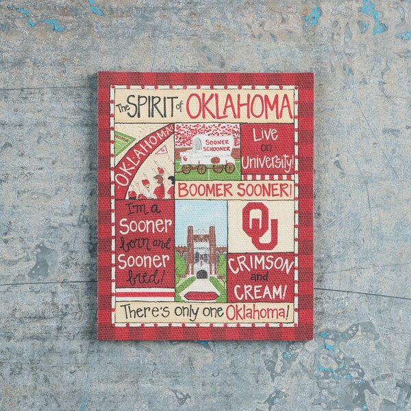 Oklahoma Spirit Magnet Vintage Advertisement on Canvas by Glory Haus