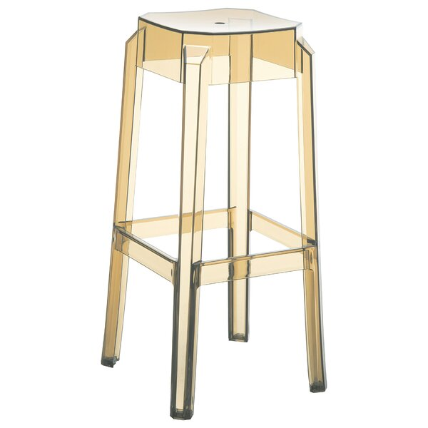 Allegra Polycarbonate 29.5 Patio Bar Stool (Set of 2) by Mercer41
