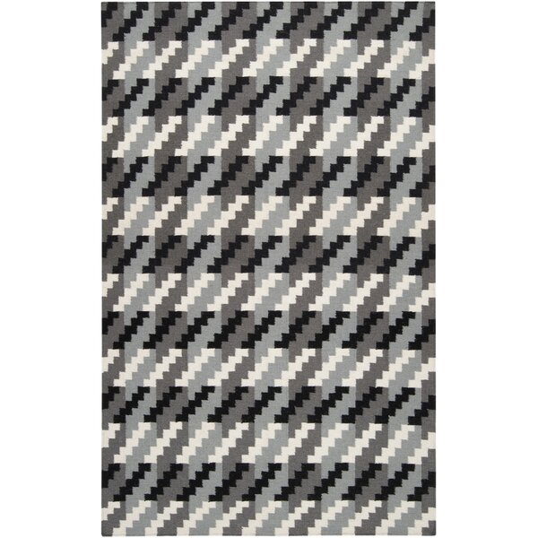 Marion Jet Black/Foggy Area Rug by Zipcode Design