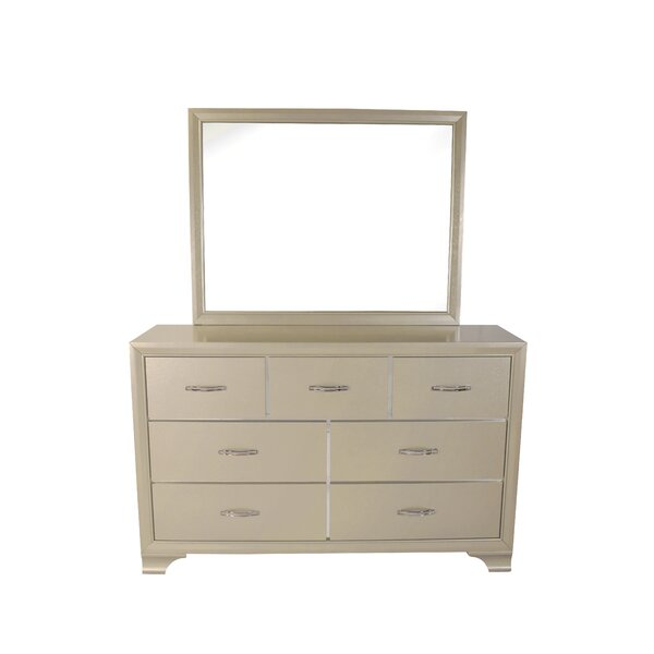 Pfaff 7 Drawer Dresser with Mirror by Everly Quinn