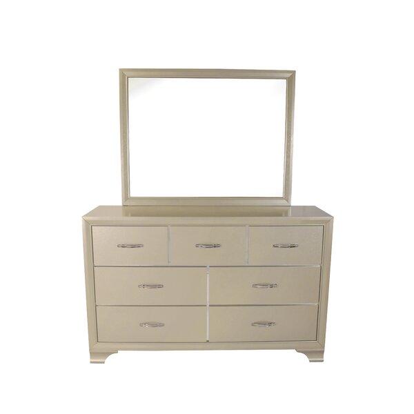 Pfaff 7 Drawer Dresser with Mirror by Everly Quinn