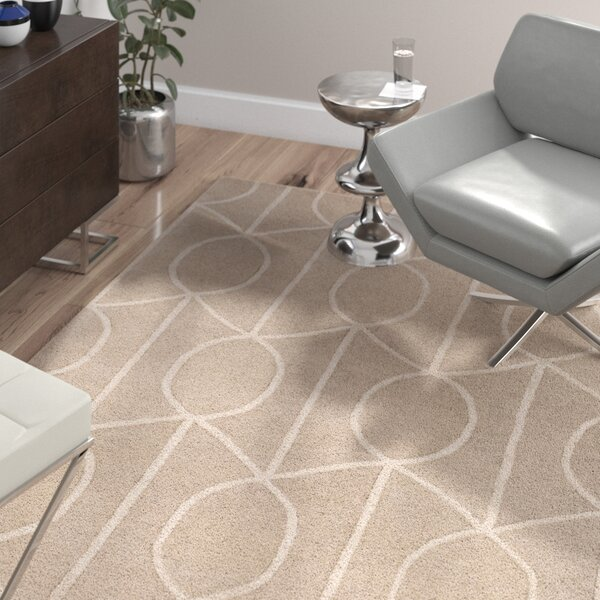 Abbey Hand-Tufted Beige Area Rug by Wade Logan