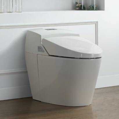Godfrey 1.6 GPF Round One Piece Toilet with Touchless Flush by Ove Decors