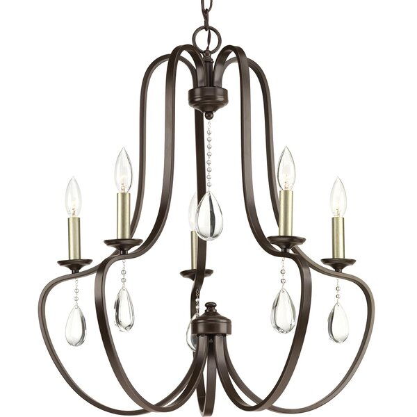 Valeria 5 - Light Candle Style Empire Chandelier By Alcott Hill