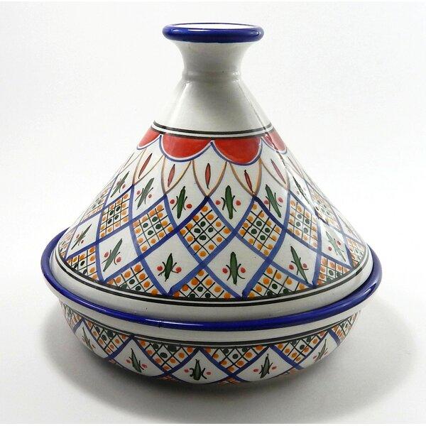 Tabarka 1.5 Qt. Ceramic Round Tagine by Le Souk Ceramique