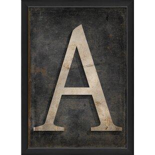 Framed Letter Art   Wayfair