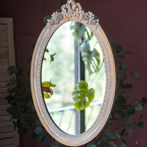 Nahua Carving Frame Oval Accent Mirror by Ophelia & Co.