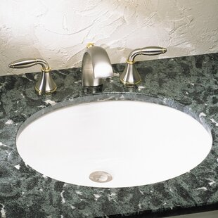 Reviews Ovalyn Ceramic Oval Undermount Bathroom Sink with Overflow By American Standard