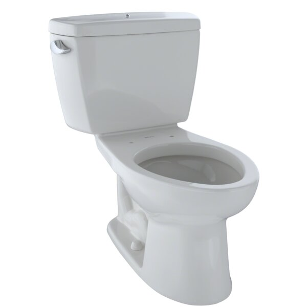 Drake® 1.6 GPF Dual Flush Elongated Two-Piece Toilet by Toto