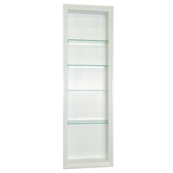 Bal Harbour 15.5 W x 43.5'' H Recessed Shelving by WG Wood Products