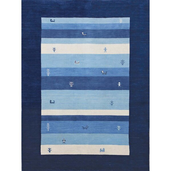 Pressley Navy Blue Area Rug by Bloomsbury Market