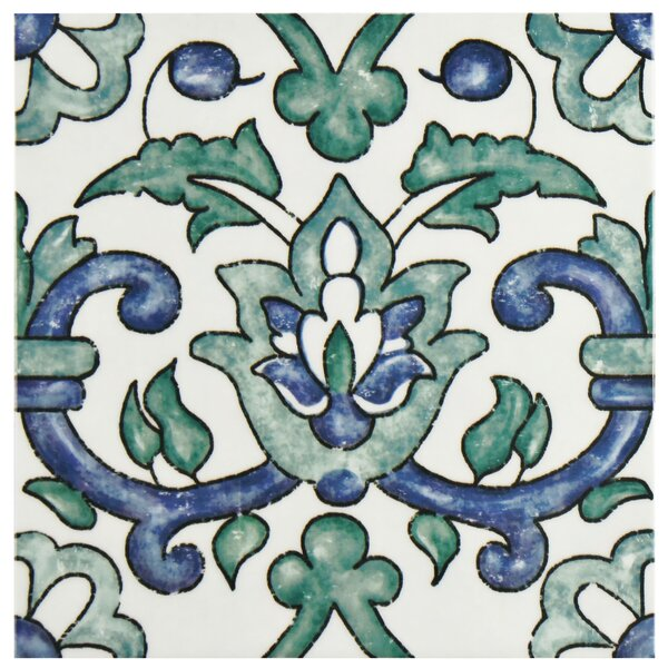 Avaricon 7.875 x 7.875 Ceramic Field Tile in Blue/