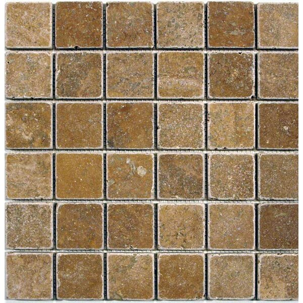 2 x 2 Mosaic Tile in Noche by Ephesus Stones