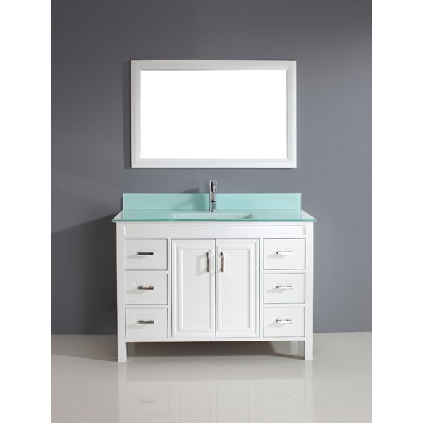 Coraline 48 Single Bathroom Vanity Set with Mirror by Bauhaus Bath