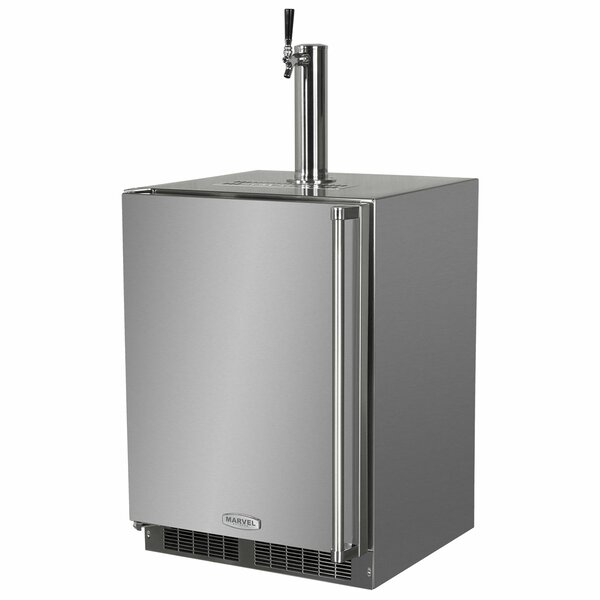 5.7 cu. ft. Outdoor Single Tap Full Size Kegerator by Marvel