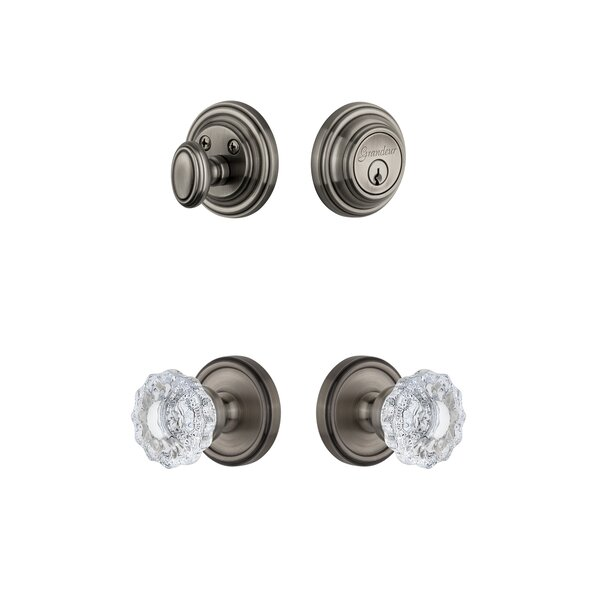 Georgetown Single Cylinder Knob Combo Pack by Grandeur