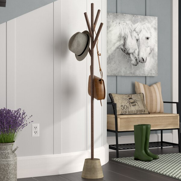 Stevenson Concrete Coat Rack by Gracie Oaks
