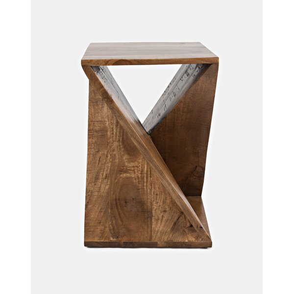 Leilla Solid Wood Abstract End Table By Union Rustic