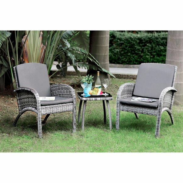 Westboro Patio 3 Piece Seating Group with Cushions by Ebern Designs