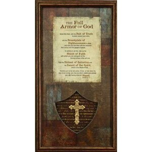 Biblical 'The Full Armor of God' Framed Textual Art by Carpentree