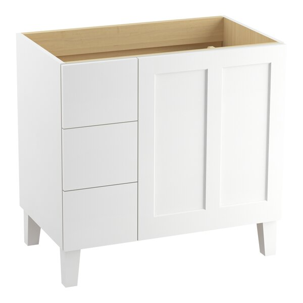 Poplin Tones 36 Vanity with Furniture Legs, 1 Door and 3 Drawers on Left by Kohler