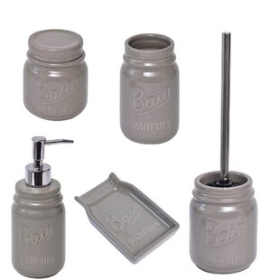 mason bathroom 5 piece bathroom accessory set