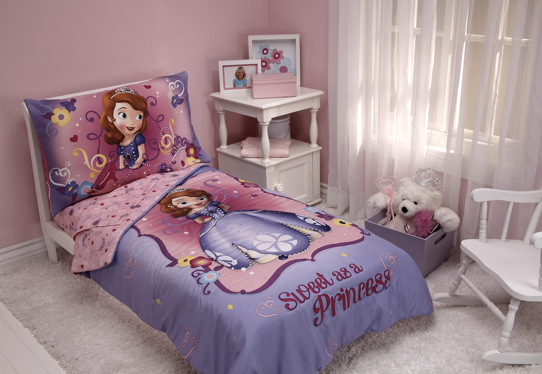 Disney Sweet As A Princess 4 Piece Sofia The First Toddler Bedding