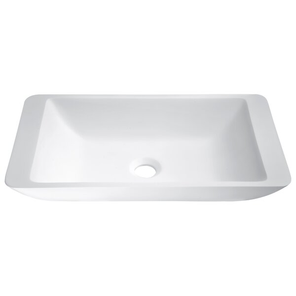 Kydia Plastic Rectangular Vessel Bathroom Sink by ANZZI